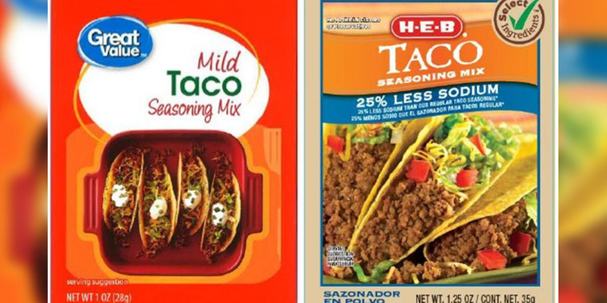 Taco seasoning sold at H-E-B, Walmart recalled due to possible Salmonella