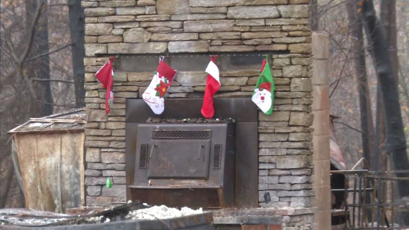 Brian Andrews Bought Holiday Supplies From A Local Store And Hung Stockings Over The Fireplace