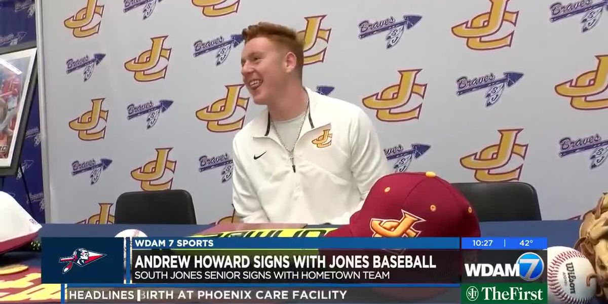 Andrew Howard signs with Jones College baseball