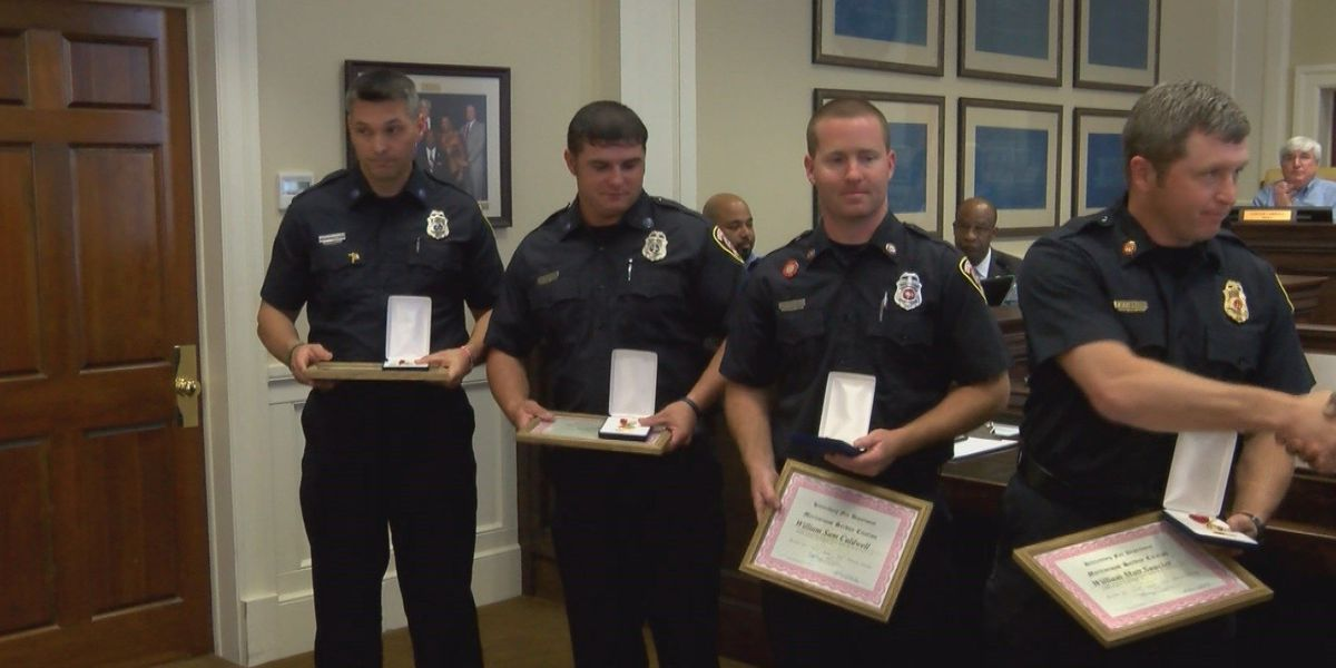 Hattiesburg firefighters receive medal for water rescue