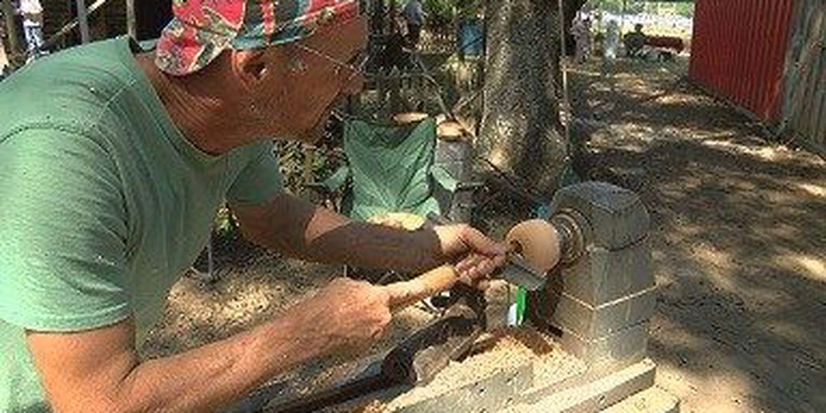 Stone Co. 'wood turner' among many craftsmen at Pecan Fest