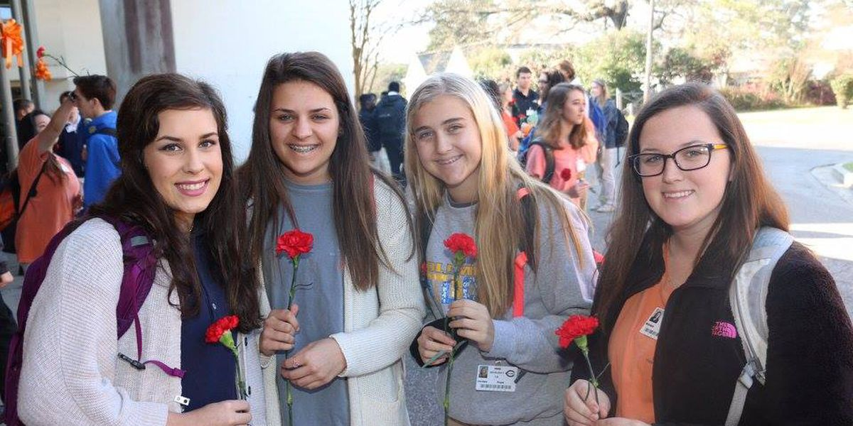 Columbia High student buys flowers for girls on Valentine's day