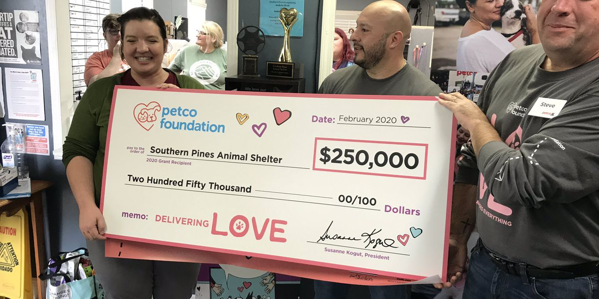 Petco Foundations gives Southern Pines $250K Valentine's grant