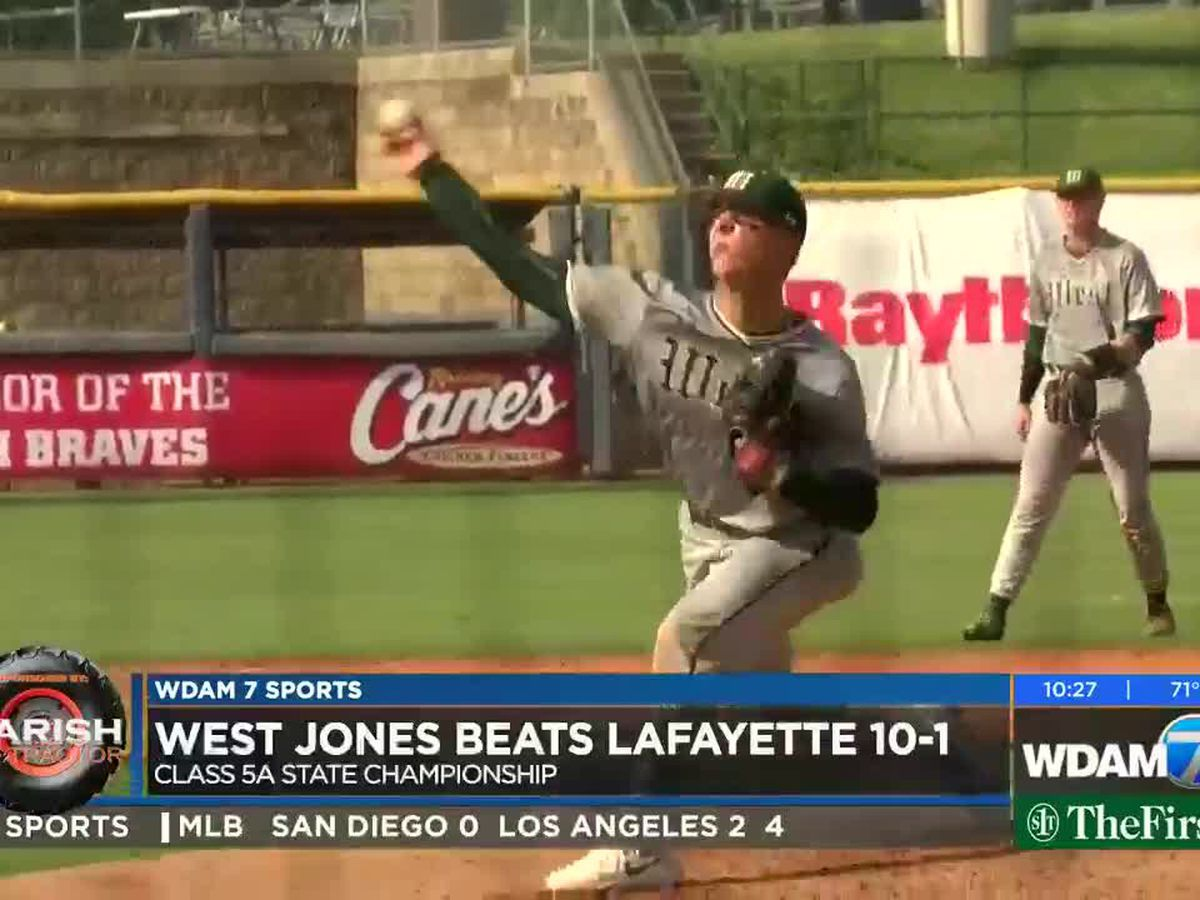 West Jones 1 win away from 1st state baseball title