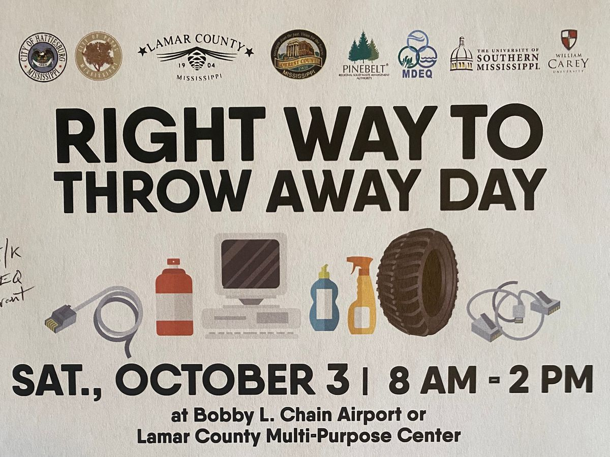 'Right Way to Throw Away' happening Oct. 3