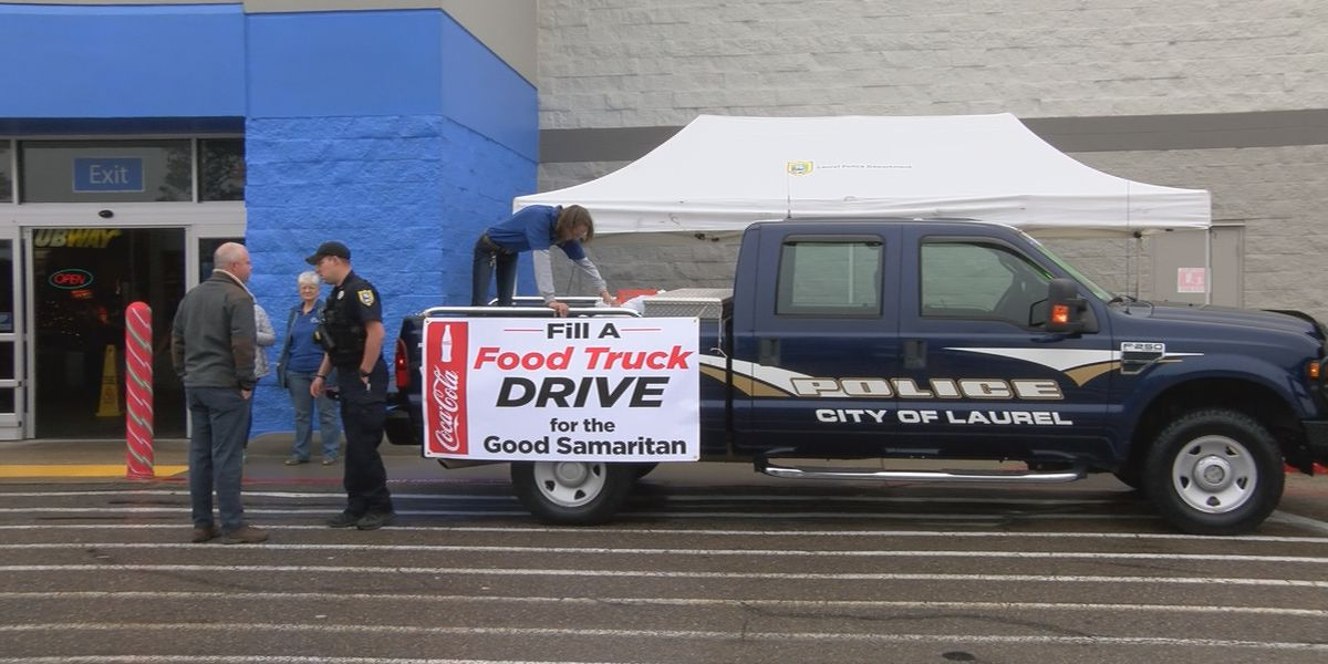 "Laurel PD and Good Samaritan work to ""Stuff a Truck"