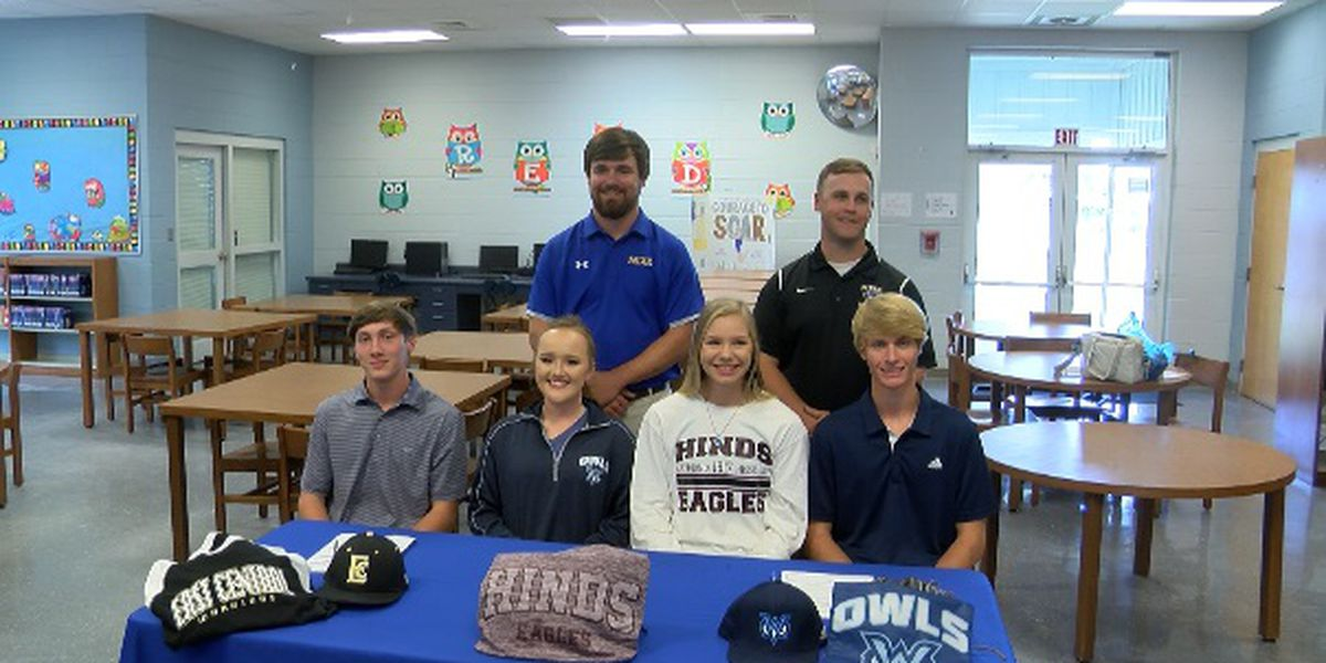 Four Mize Bulldogs sign athletic scholarships