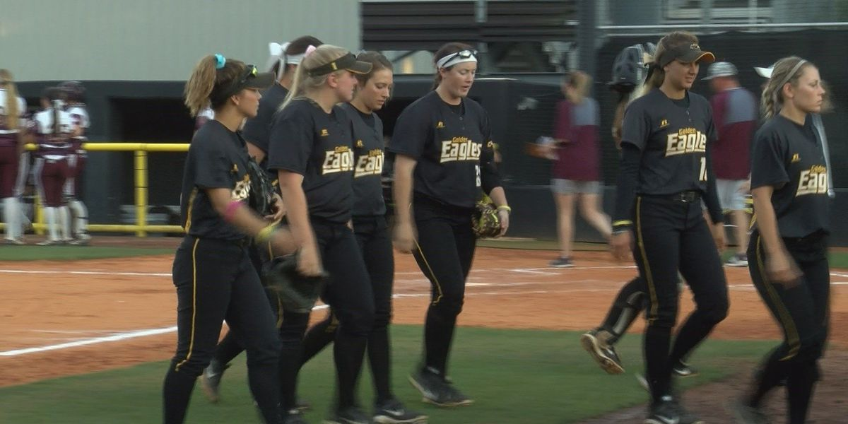 Lady Eagles have close game in softball tournament