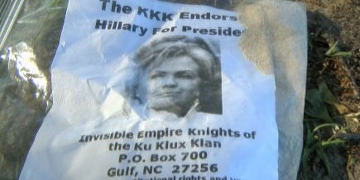 Laurel residents fired up over KKK fliers in their yards