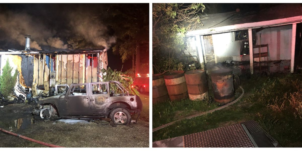 Jones Co. firefighters battle two house fires Tuesday