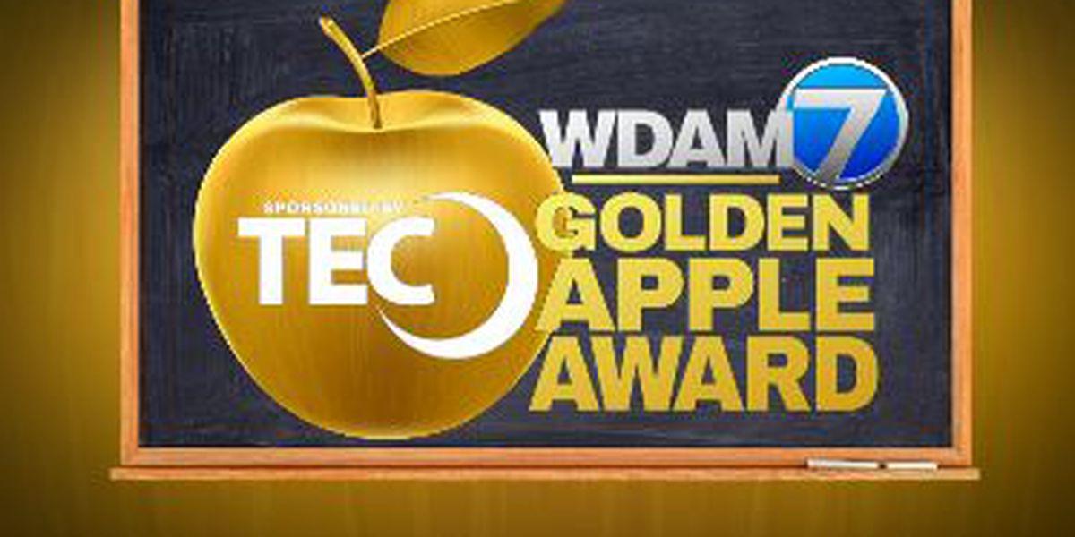 Longleaf Elementary teacher wins TEC, WDAM Golden Apple Award
