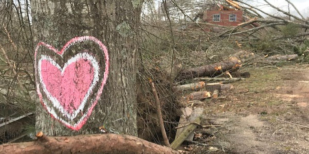 Firefighters taking donations for storm victims in Sandersville