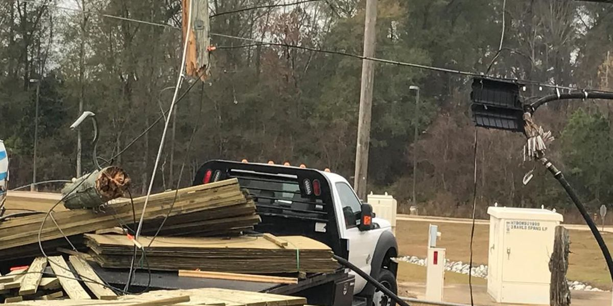 Crews replacing power pole after accident on Hwy 49