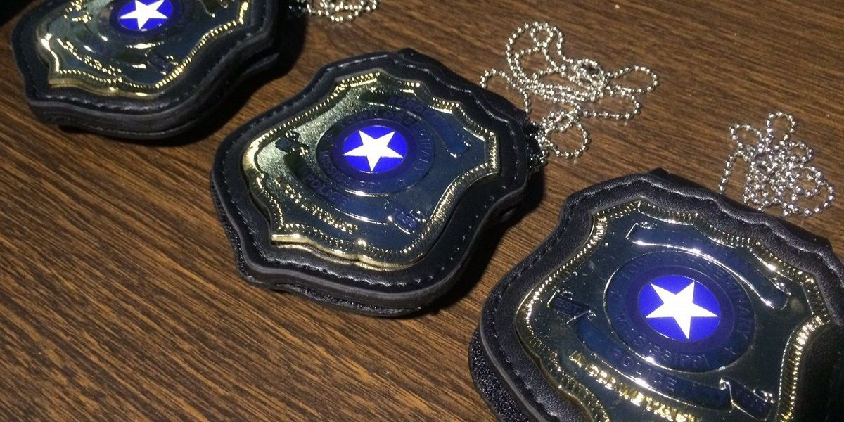 """Seminary Police receive new badges; """"In God We Trust"""" added"""