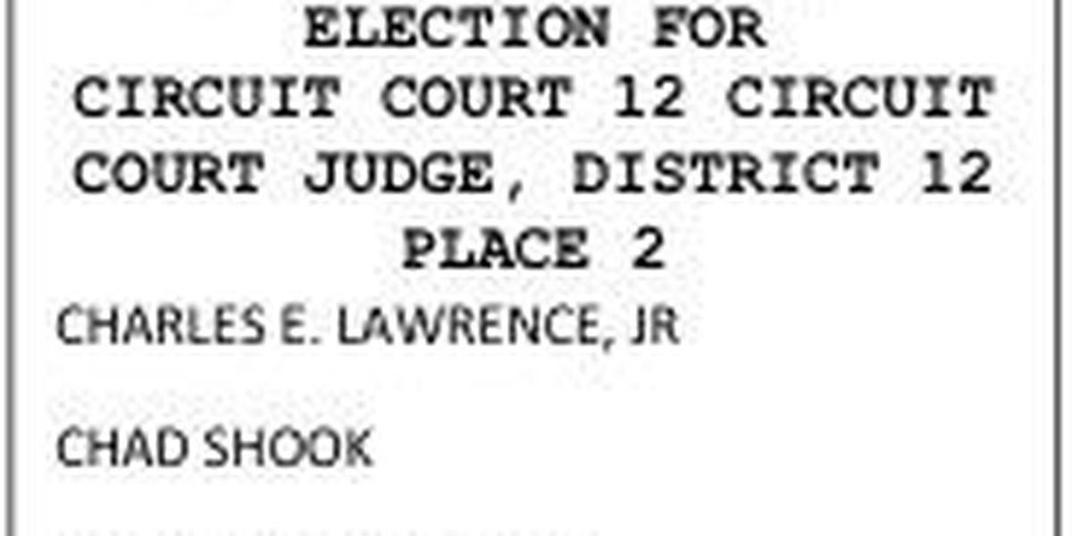 Three candidates vie for new judgeship