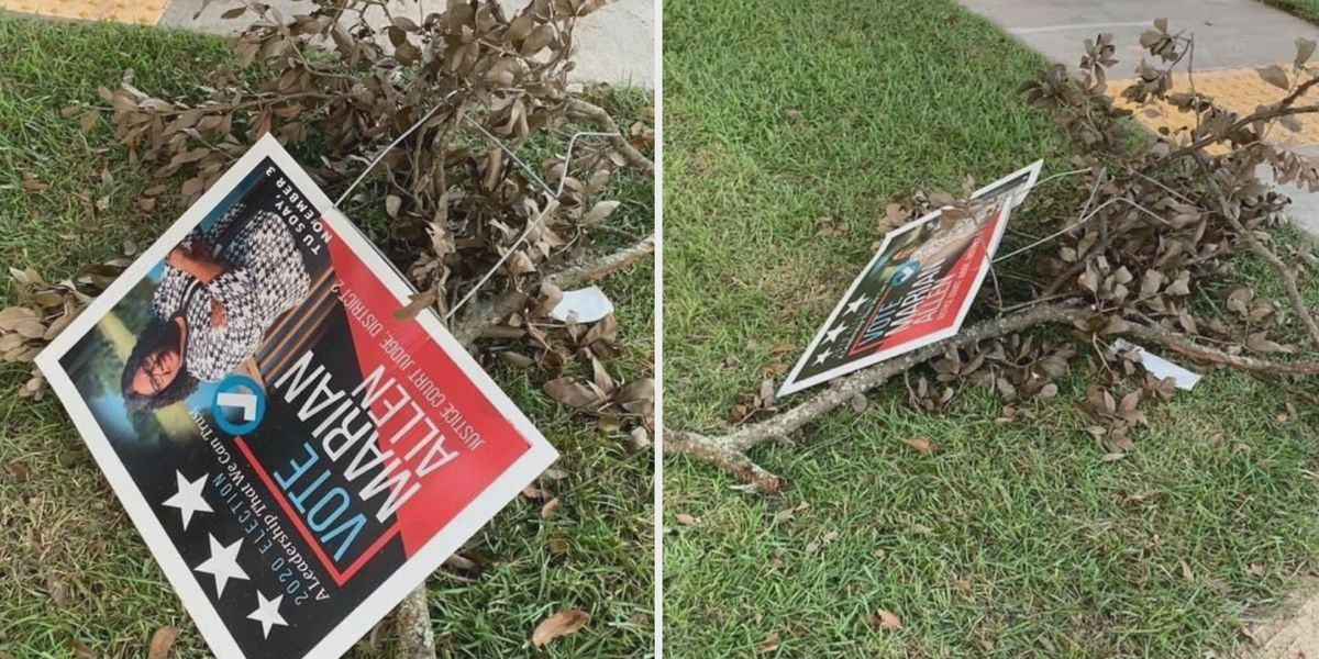 Jones County judicial candidate upset over missing, destroyed campaign signs