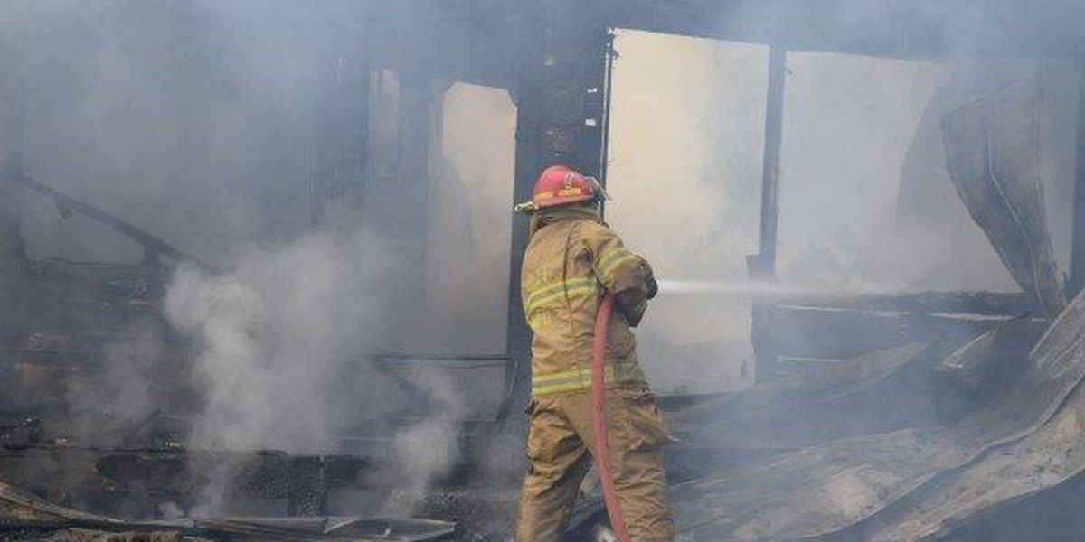Abandoned Ovett home total loss after fire