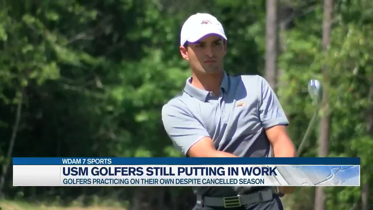 Cancelled season not stopping USM golfer from putting in work