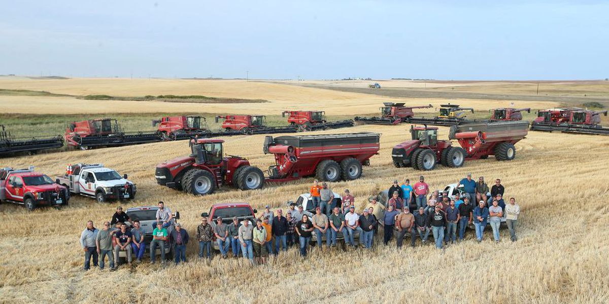 North Dakota farmers finish neighbor's harvest after heart attack