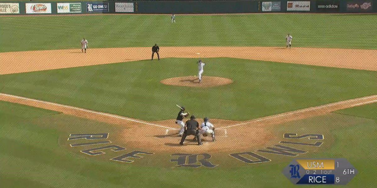 USM baseball falls to Rice