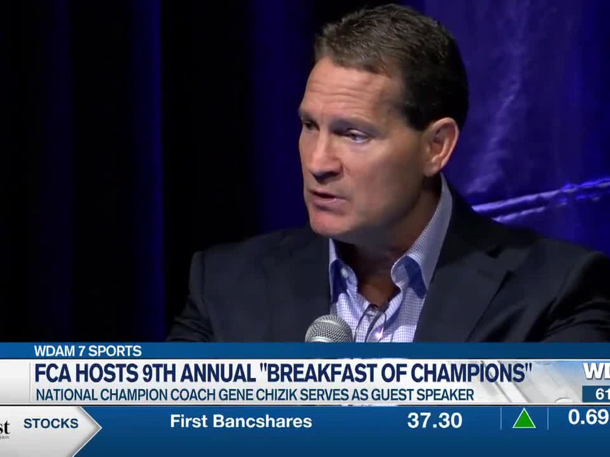 "National champion coach Gene Chizik joins FCA's ""Breakfast of Champions"""