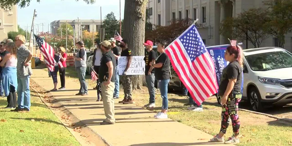 Trump supporters protest in Jackson to 'Stop the Steal' of the presidential election