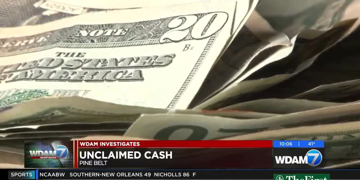 WDAM Investigates: Unclaimed cash in Pine Belt