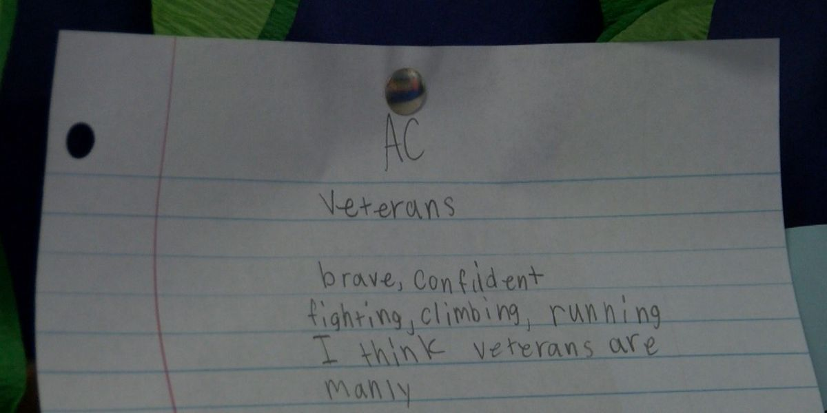 Pine Belt students write poems, letters to veterans