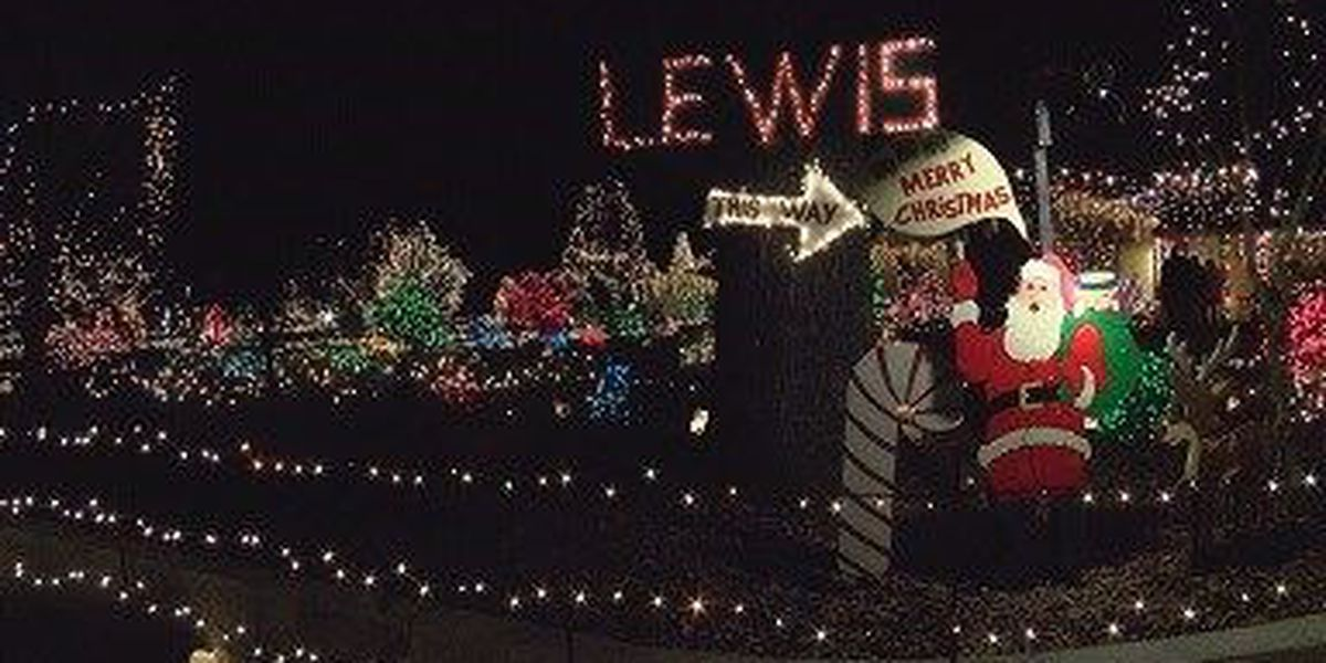 Lewis family hosting annual display of 200,000 Christmas lights