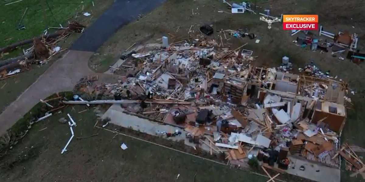 200 in the dark after tornado runs through several neighborhoods in Mize