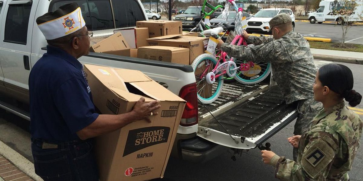 Hattiesburg VFW donates Christmas toys to children of Shelby soldiers