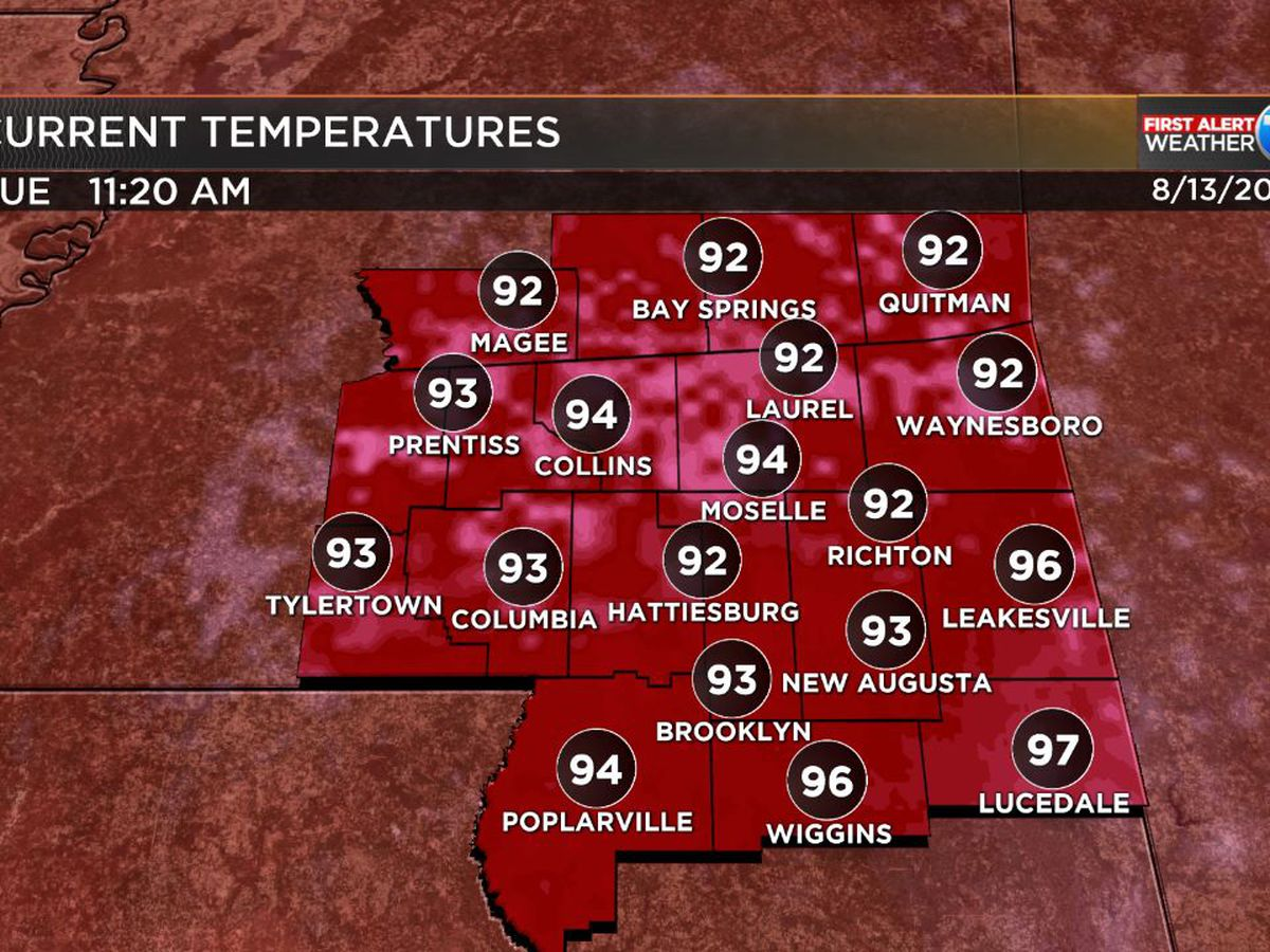 Excessive Heat Warning: Cooling stations open in Hattiesburg