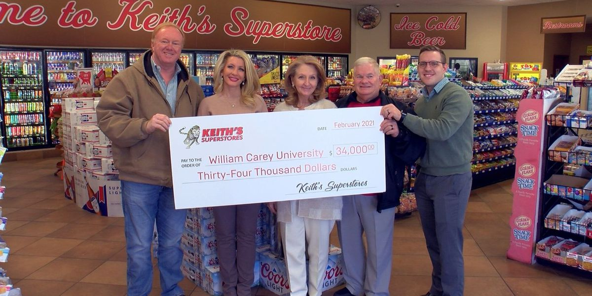 Keith's donates $34K to William Carey for student testing, vaccinations