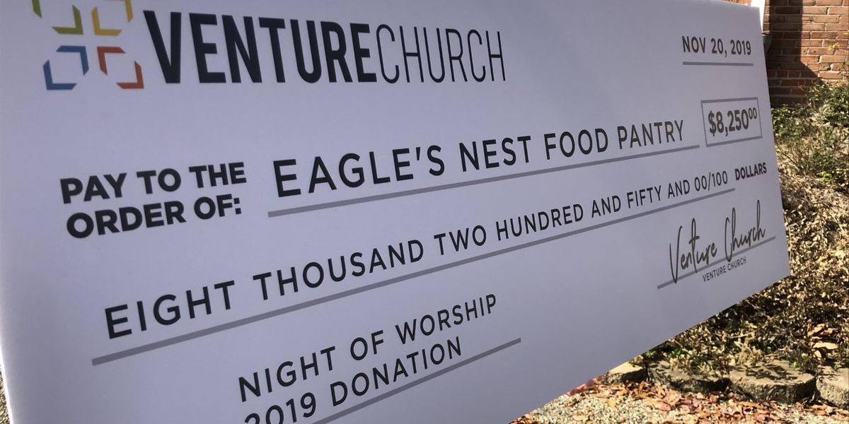 Eagle's Nest Pantry gets $8K donation from Venture Church