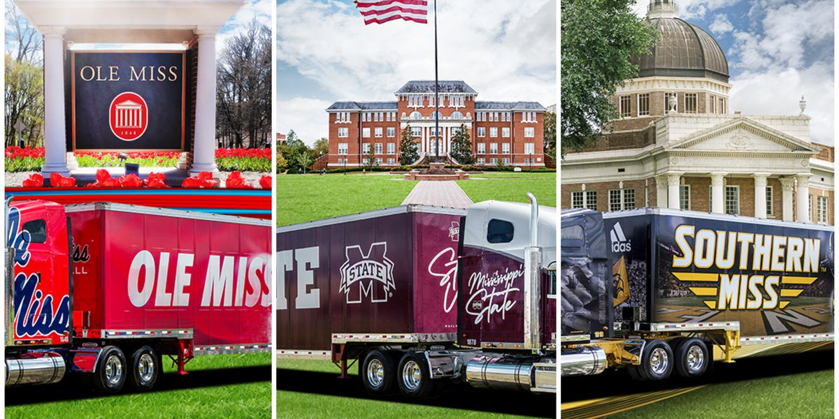 Miss. company donates football tractor-trailers to several universities
