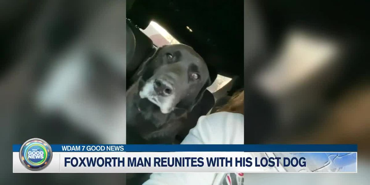 Foxworth man reunites with his lost dog