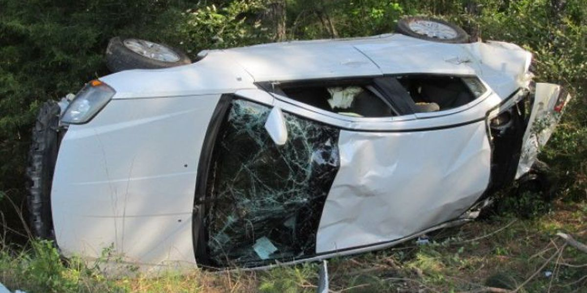 Four injured in one-vehicle rollover