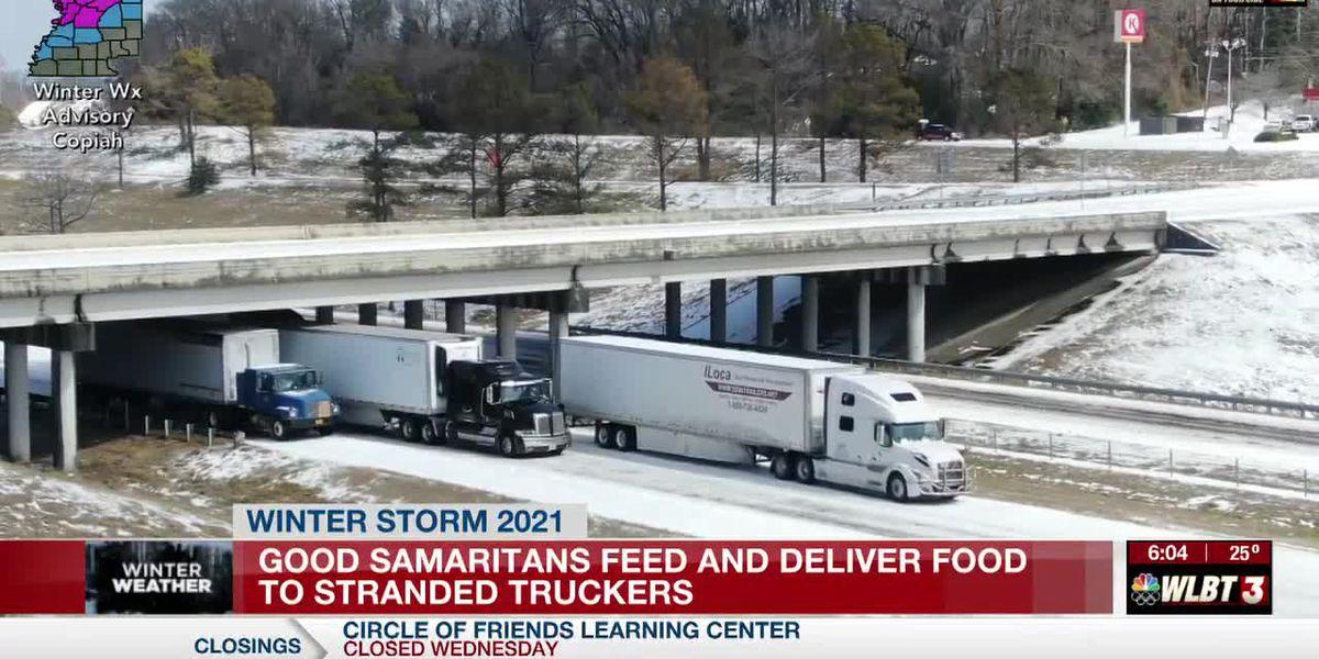 Retired Army veteran feeds truckers stranded on I-20 near Clinton