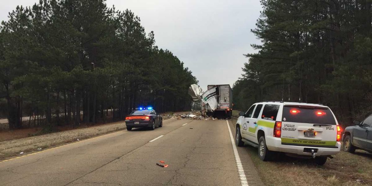 Covington highway blocked after parcel truck collides with 18-wheeler