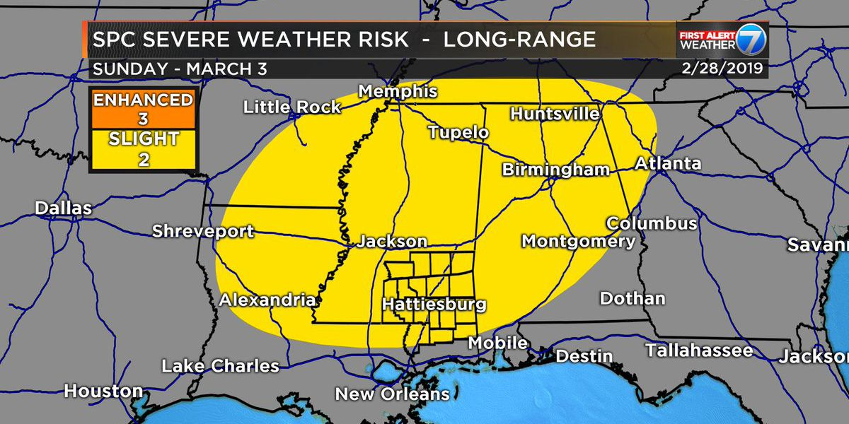 FIRST ALERT: Severe storms possible ahead of cold temperatures next week