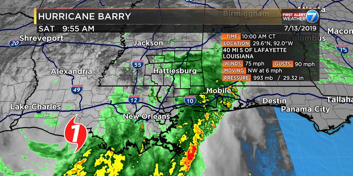 Barry bumped to hurricane status