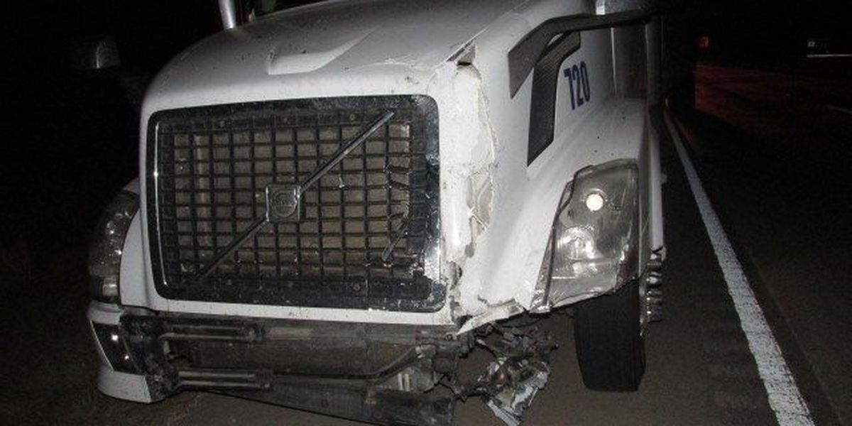 VIDEO: 18-wheeler plows into SUV on I-59