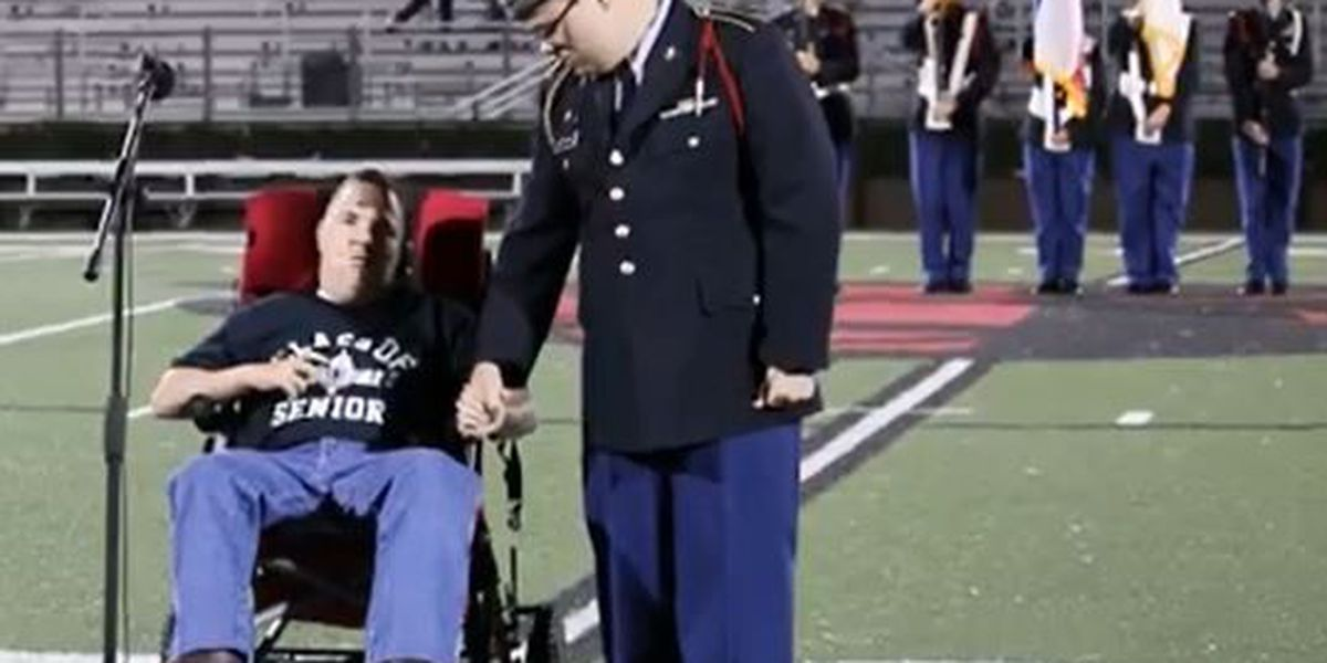 Petal student passionately performs National Anthem