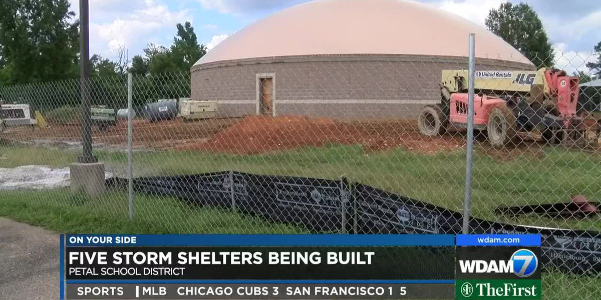 Construction underway for storm shelters in the Petal School District