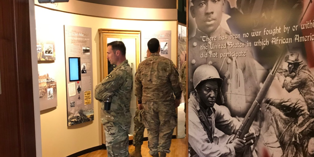 Camp Shelby soldiers tour African American Military History Museum