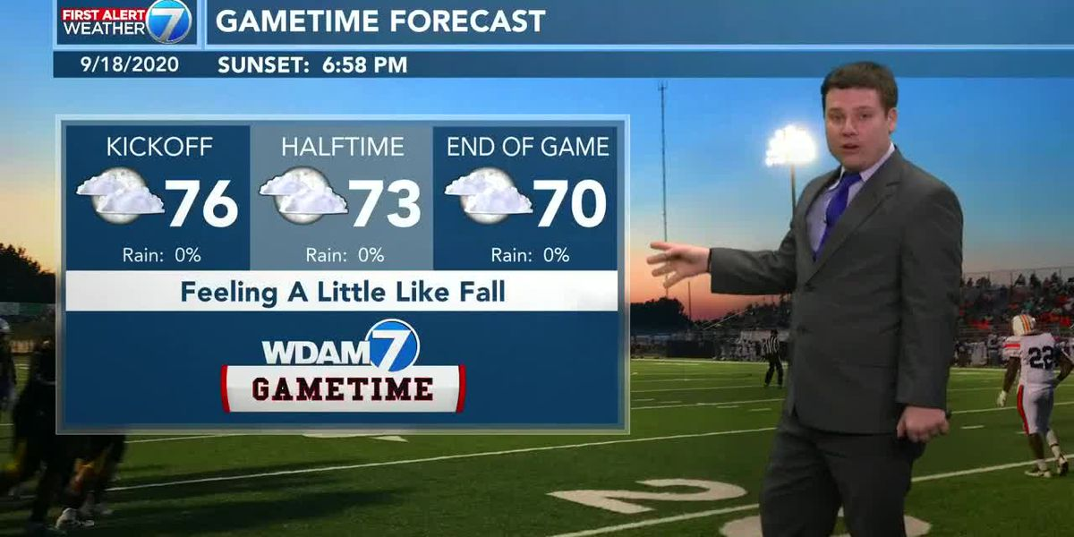 Fall-like weather expected for Friday night football