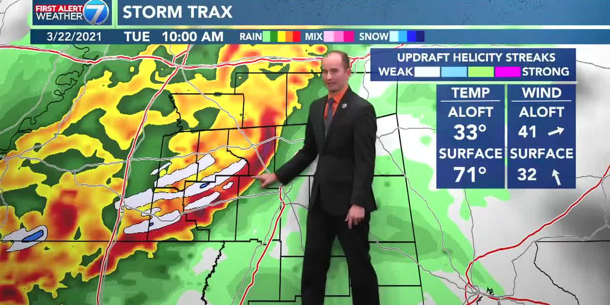 Clouds increase overnight as rain moves in Tuesday