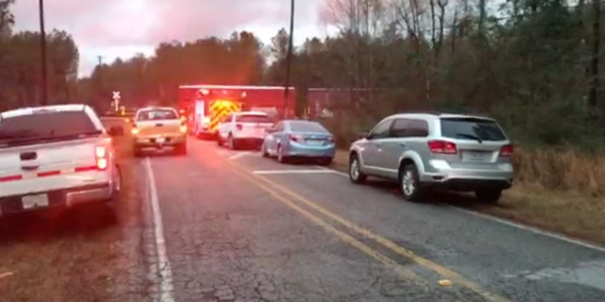 First responders working crash involving train in Forrest Co.