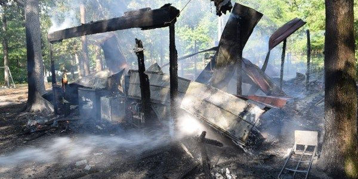 Jones Co. family loses tools, keepsakes in structure fire