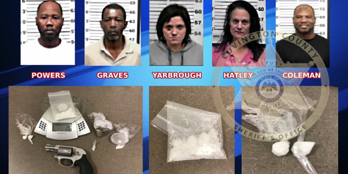 5 arrested on drug charges in Covington County over weekend